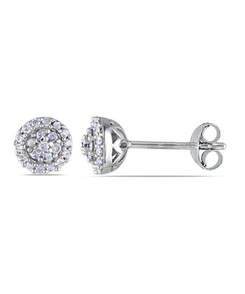 Diamond & Silver Fashion Stud Earrings