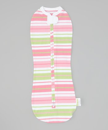Pink Stripe Summer Zipper Swaddle