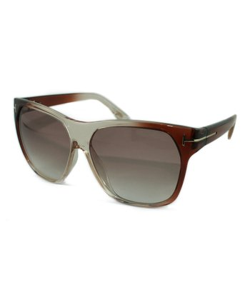 Terra-Cotta & Clear Federico Sunglasses