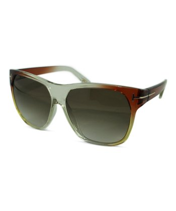 Brown & Goldenrod Federico Sunglasses
