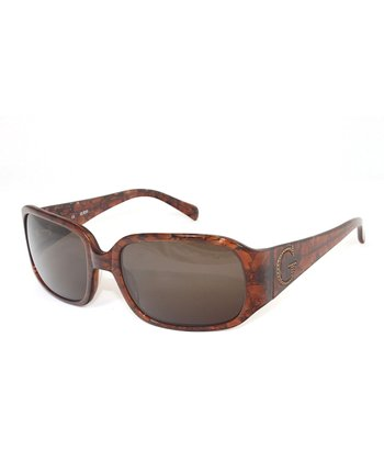 Brown Studded 'G' Sunglasses - Women