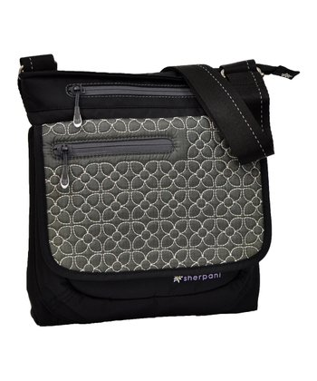Pewter Embroidered Jag Crossbody Bag