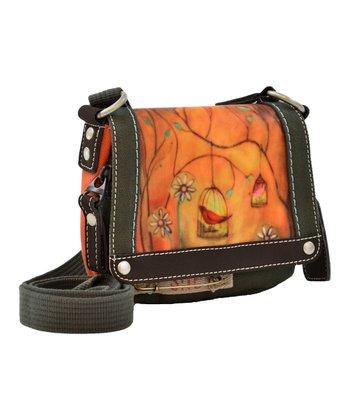 Sherpani Burnt Umber Petal Crossbody Bag