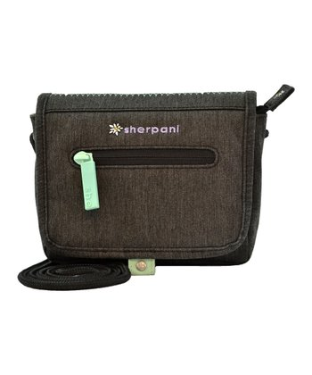 Sherpani Heather Black Uno Crossbody Bag