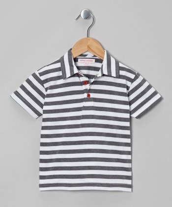 Gray Stripe Polo - Infant, Toddler & Boys
