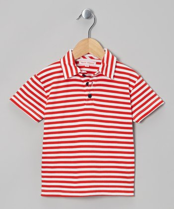 Red Stripe Polo - Infant, Toddler & Boys