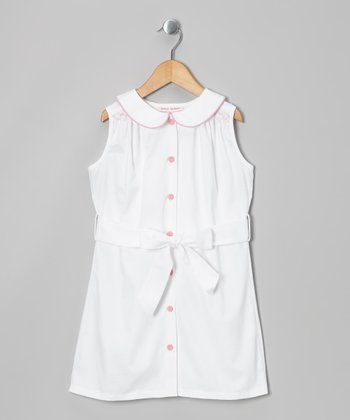 White Twill Madden Dress - Infant, Toddler & Girls