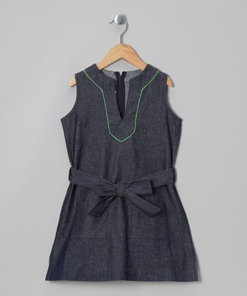 Navy Denim Tunic - Toddler & Girls