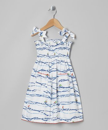 Sailboat Dannie Dress - Toddler & Girls