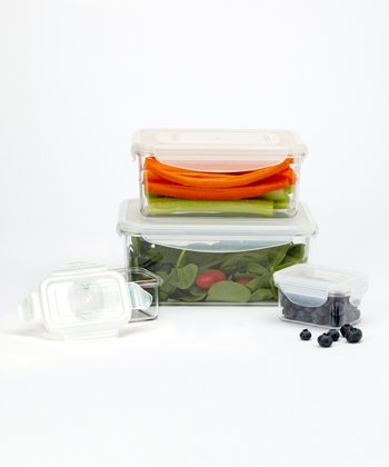 Rectangular Food Storage Four-Piece Container Set