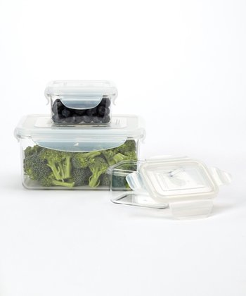 Covered Salad Thee-Piece Container Set