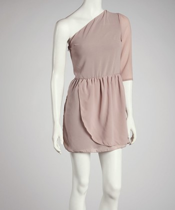 Pink Asymmetrical Dress - Women