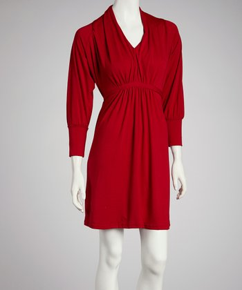 Red Tie-Waist Dress - Women