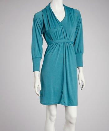 Teal Tie-Waist Dress - Women