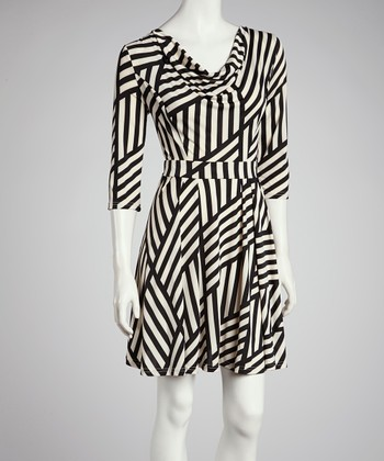 Black & White Stripe Dress - Women