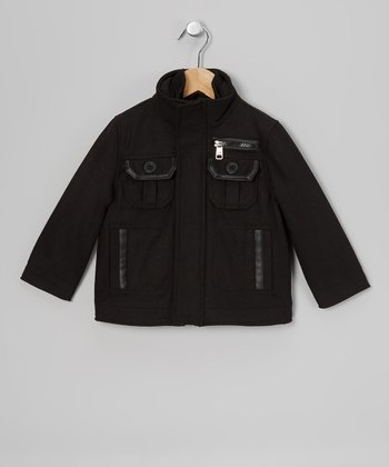 Black Military Jacket - Toddler & Boys