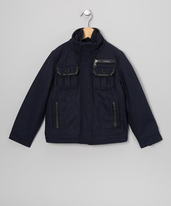 Navy Military Jacket - Toddler & Boys