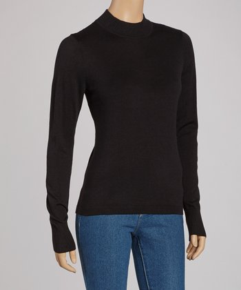 Black Long-Sleeve Sweater