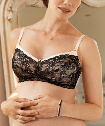 Black & Blush Nougatine Wireless Maternity Bra - Women & Plus