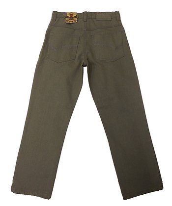 Charcoal Baked Straight-Leg Jeans - Toddler & Boys