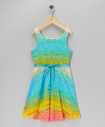 Rainbow Lace Dress - Girls