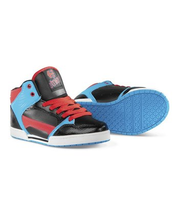 Blue & Black Uptown Hi-Top Sneaker