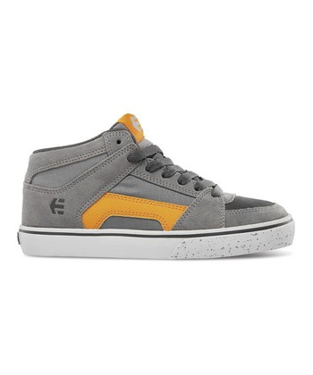 Gray & Orange RVM Vulcan Hi-Top Sneaker