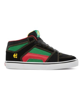 Green & Black RVM Vulcan Hi-Top Sneaker