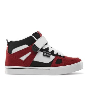 Red & White Decade Hi-Top Sneaker