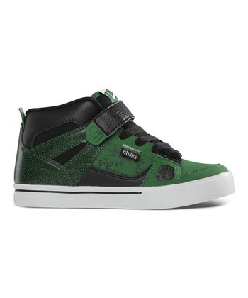 Black & Green Decade Hi-Top Sneaker