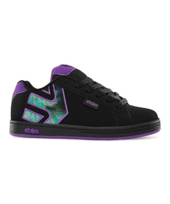 Black & Purple Fader Sneaker