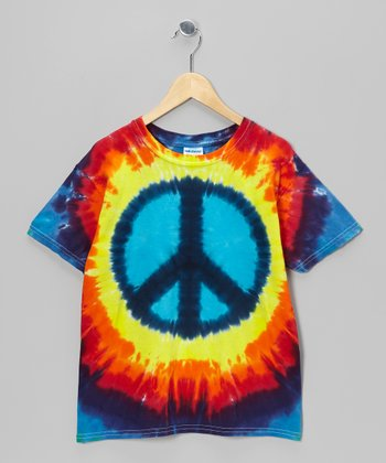 Rainbow Peace Tie-Dye Tee - Toddler & Kids