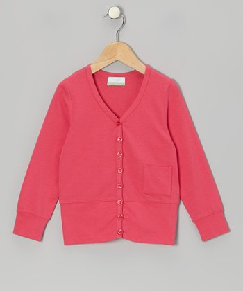 Hot Pink Organic Cardigan - Infant, Toddler & Girls
