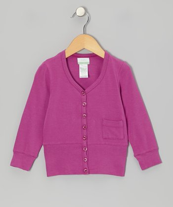 Fuchsia Organic Cardigan - Infant, Toddler & Girls