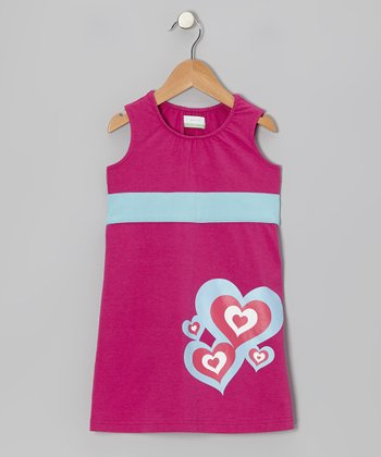Fuchsia Love Organic Shift Dress - Infant, Toddler & Girls