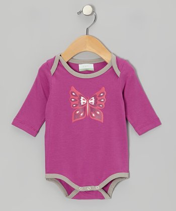 Fuchsia Butterfly Organic Bodysuit - Infant