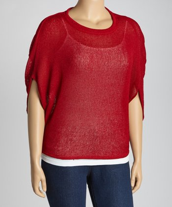 Red Dolman Top - Plus