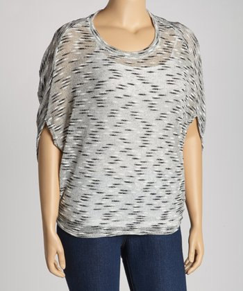 Gray Tex Dolman Top - Plus