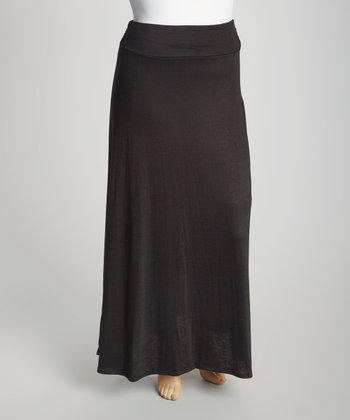 Black Maxi Skirt - Plus
