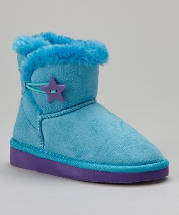 Turquoise & Purple 4'' Sueded Boot