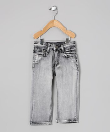 Gray Bleach-Wash Jeans - Toddler