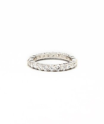 White Gold & Crystal Eternity Band