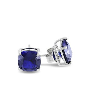 Sapphire Cushion Stud Earrings