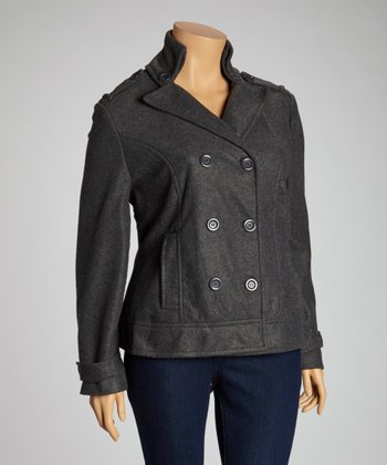 Charcoal Peacoat - Plus