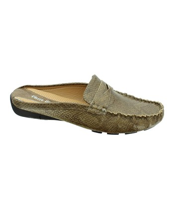 Taupe Lizard Viola Slide Loafer