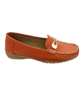 Orange Hazel-9 Loafer