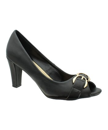 Black Cancice 3 Peep-Toe Pump