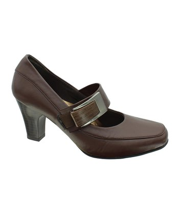 Brown Softs-4 Mary Jane Pump