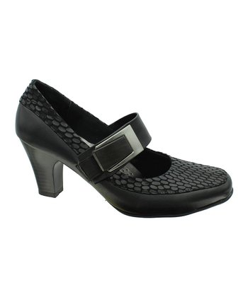 Black Circle Softs 4 Mary Jane Pump