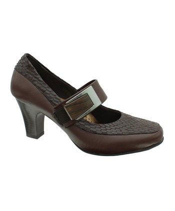 Brown Circle Softs 4 Mary Jane Pump
